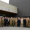 Stavanger: foto di gruppo all'ingresso del Joint Warfare Centre (JWC)