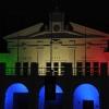 Illuminazione al Tricolore sulla teulié