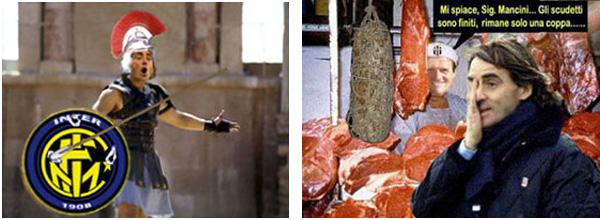Mancio Gladiatore colpito da Langella e Mancio 'servito' da Capello (by Rob,novembre 2004)
