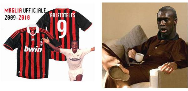 Aristoteles al Milan e Seedorf in ciabatte al derby Milan-Inter 0-4 del 29 agosto 2009